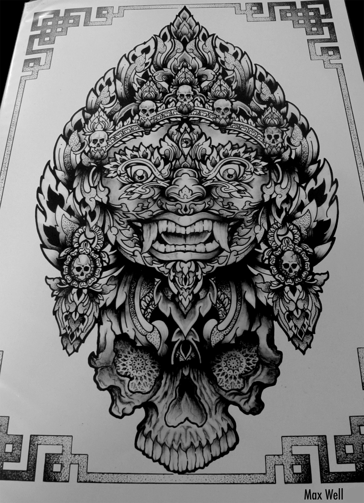 Drawing mahakala