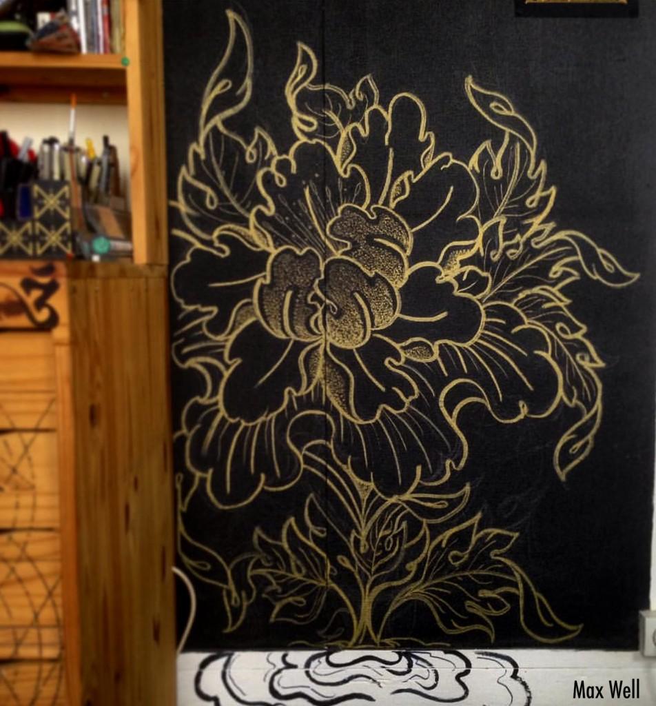 mur fleur