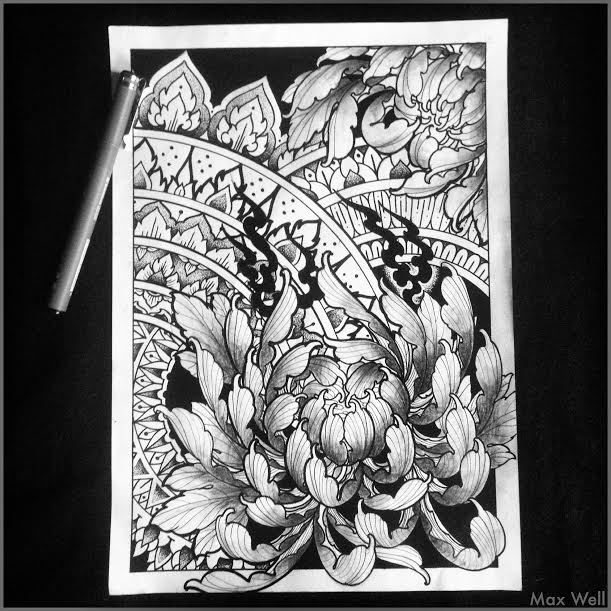 fleurs ornements